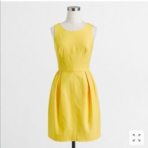J crew textured cotton dress yellow sz 2